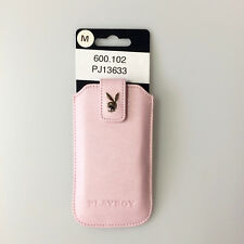 Playboy Leder Case für Apple iPhone 4 4S 5 5C 5S 5SE Größe M pink PLAYBOY 13633