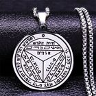 Unisex Vinyl Sticker Decal Stainless Steel Necklace Seventh Pentacle Of Saturn