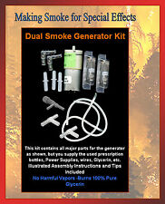 1 Kit Dual Smoke Generator DIY Project NEW -for Model RR & Diorama Apps #21