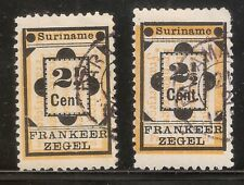 Suriname Nummer  22/22A    Gebruikt.
