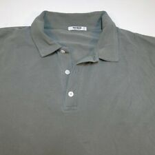 BUCK MASON POLO SHIRT Sz Mens L Gray