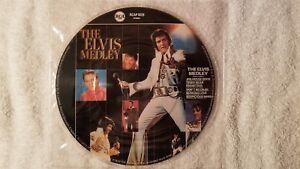 "ELVIS PRESLEY Medley / Jailhouse Rock 7"" PICTURE DISC Vinyl UK Single 45 MINT"