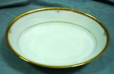 Noritake Buckingham Gold 4346 White Gold Trim Oval Vegetable Bowl 18H022