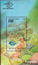 Indonesia block122 mint never hinged mnh 1997 Coral reefs