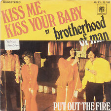 BROTHERHOOD OF MAN Kiss Me, Kiss Your Baby FR Press PYE PY 12160 1975 SP