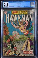 Hawkman #1 1st Appearance of Hawkman 1964 CGC 2.5 Origin & 1st App Chac