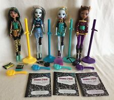 Monster High School's Out Cleo, Frankie, Lagoona, Clawdeen Dolls Lot of 4