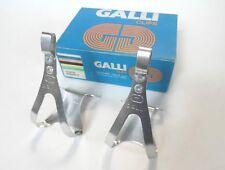 *NOS Vintage 1970s/80s GALLI (Super Record era) Alu pedal toe clips - small*