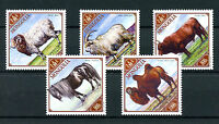 Mongolia 2016 MNH Male Farm Animals Camels Goats Sheep Horses Cows 5v Set Stamps