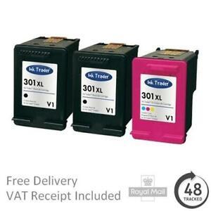 Premium Remanufactured 301XL Black & Colour Ink Cartridges For HP Printers