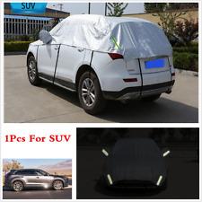 Semi-body Car Cover Waterproof Sun Shade Heat Protector Reflective SUV Universal
