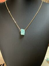Delicate Raw WhiteWater Turquoise Gemstone Necklace
