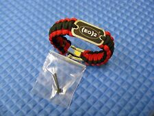 (EO)2 Fasteners Survival Strap Black And Red With Stainless Steel Clevis EO5200