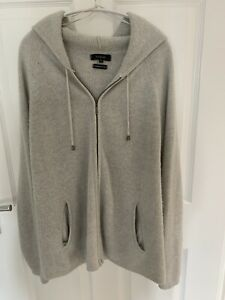 Marks and Spencer Autograph Cashmere/ Silk Zip Up Hooded Cardigan