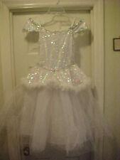 Snow Princess White Silver Dress Costume Girls Size M 6X-8 Renaissance Ballerina