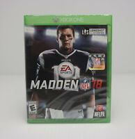 Madden NFL 18 Microsoft Xbox One, 2017 Factory Sealed! SHIPS FAST!! SEE VIDEOS!!