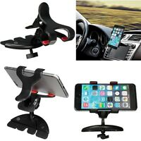 360 Degree Holders Car CD Slot Mount Holder Stand Black For Mobile Phone GPS PDA