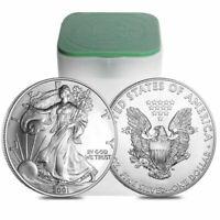 (Lot of 100) 1 Ounce (Random Date) Silver American Eagles .999 1oz.