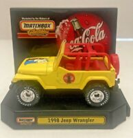 Coca Cola-CJ5-Jeep Wrangler-1998-4X4-Promotional Limited Edition-W/ Stand-RARE!
