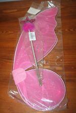 déguisement petite Princesse ailes de la Fée rose  / baguette étoile frou frou