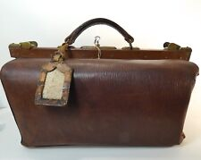 Grande sacoche, valise, sac de voyage XIX ème en cuir