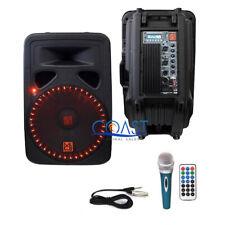 "Mr.Dj 15"" 3000W 2-Way LED Accent Bluetooth FM SD USB Portable Speaker PP3500LED"