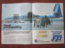 7/1982 PUB FOKKER F27 FRIENDSHIP CITYHOPPER AIRLINER OMAN AVIATION ORIGINAL AD