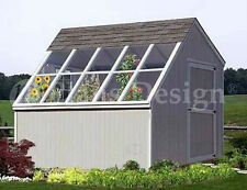 10 x 10 Greenhouse Backyard Garden Shed Plans, Material List Included #41010