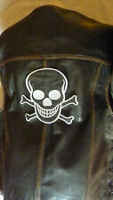 "Patch ecusson ""tete de mort noire "" harley, moto usa country biker,"