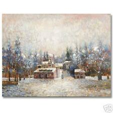 Dia de Invierno 1984 by Rivera ORIGINAL PAINTING Snow!