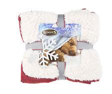 Scruffs Winter Wonderland Reversible Snuggle Pet Blanket 110cm X 75cm Red