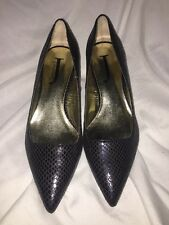 J. Renee Corrie Women US 6 Black Heels Display Snakeskin