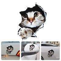Fashion Cat Kitten Simulation Creative 3D Anime Funny Auto Sticker  Car Styling