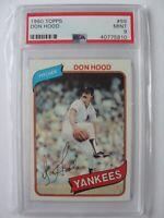 1980 Topps New York Yankees #89 DON HOOD PSA 9 Mint Baseball Card