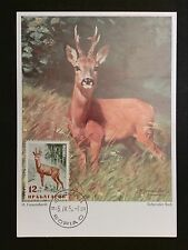 BULGARIA MK 1958 TIERE WILD HIRSCH REH DEER MAXIMUMKARTE MAXIMUM CARD MCc8264