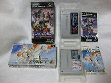 Lot 2 Fire Emblem monshou no nazo & Tales Of Phantasia Super Famicom Snes Boxed