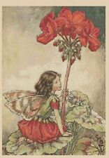 Flower Fairy  Cross stitch chart Geranium Fairy  No428 FlowerPower37-uk