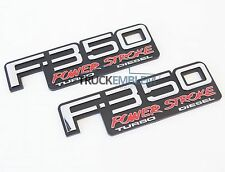 2 NEW (PAIR) SET CUSTOM 94-98 OBS F350 POWERSTROKE TURBO DIESEL FENDER BADGES