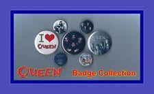Queen - Freddie Mercury Button Badge Collection Set 2 FREEPOST