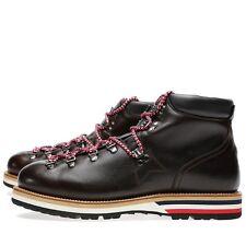Moncler Dark Brown Matterhorn Leather Mountain Boots 10 43 New $795
