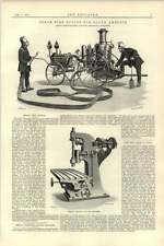 1892 Merryweather Steam Fire Engine S America Cunliffe Croom Milling