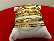 Indian Bollywood Ethnic 12PC Gold Plated Jewelry Fashion Bangles Bracelets Set