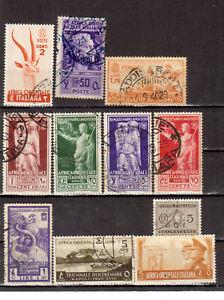 COLONIE ITALIANE: 1938/941 AFRICA ORIENTALE 11 VALORI USATI (R194F)