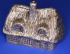 More details for royal hampshire silvered cottage paperweight, w:6cm [22475]