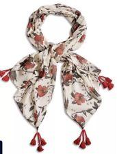 Lucky Brand Ekani Light Weight Wool Floral Boho Scarf Wrap Travel