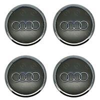 4 x Audi Alloy Wheel Centre Caps 69mm Grey  - OEM Fit A1 A3 A4 A5 A6 A7 Q3 Q5 Q7