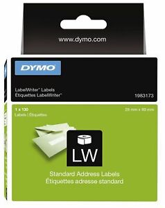 Dymo 1983173 LW Standard Address LabelWriter Labels 28 x 89mm 1 Roll of 130