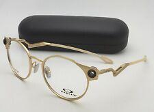 OAKLEY Round Titanium Eyeglasses DEADBOLT OX 5141-0452 52-19 Matte Gold Frames