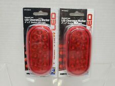 New listing 2-Roadpro Rp1259Dlr 2x4 Sealed Led Light with Diamond Lens Red