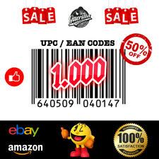 1000 UPC EAN Code Numbers Barcodes eBay amazon EU #39 Stock WORLDWIDE #1
